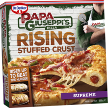 Papa Giuseppi's Rising Stuffed Crust Pizza - Supreme